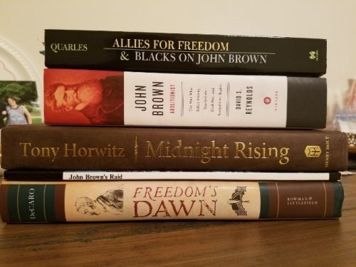 A small selection of books I own that debate the legacy of John Brown's life.