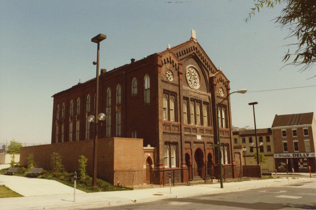 Color photo of B'nai Israel Synagogue, c. 1980s. JMM 1987.173.67