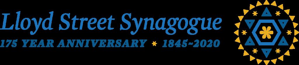 Lloyd Street Synagogue 175th Anniversary Logo