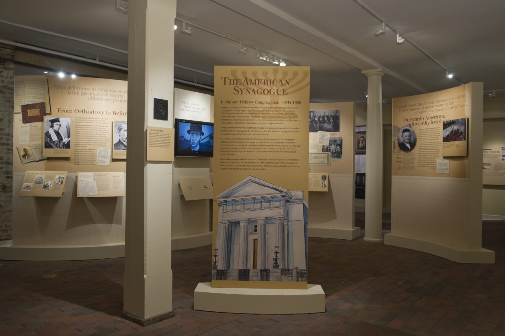 Exhibit in the basement of the Lloyd Street Synagogue.