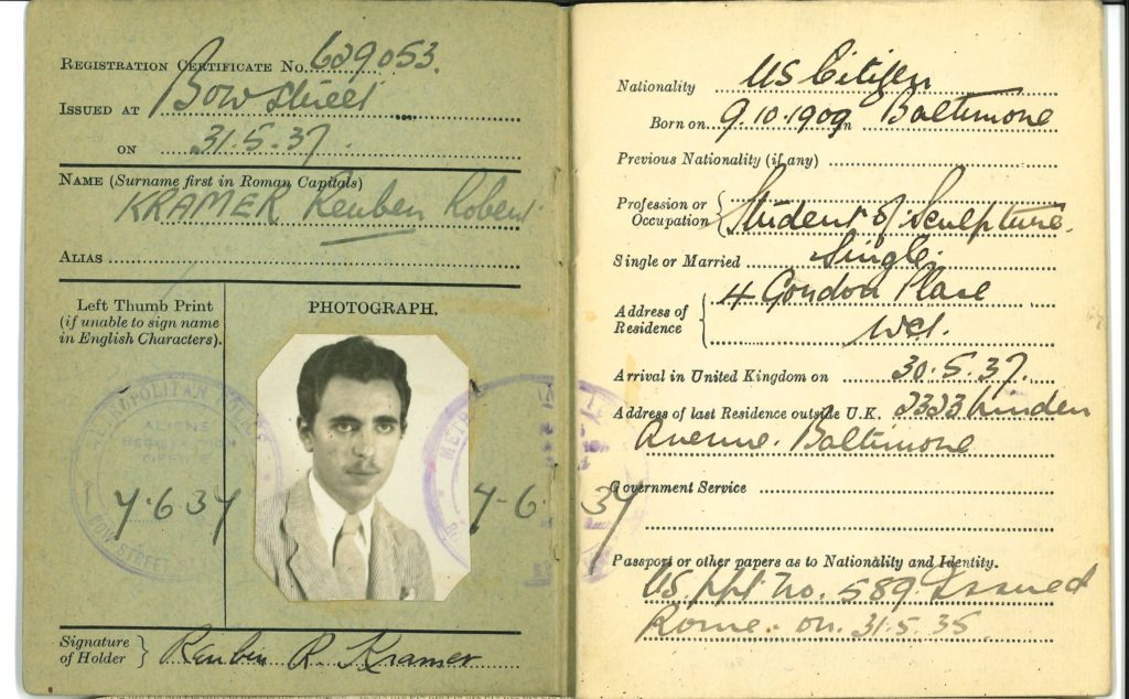 "British ""Certificate of Registration No. 629053"""
