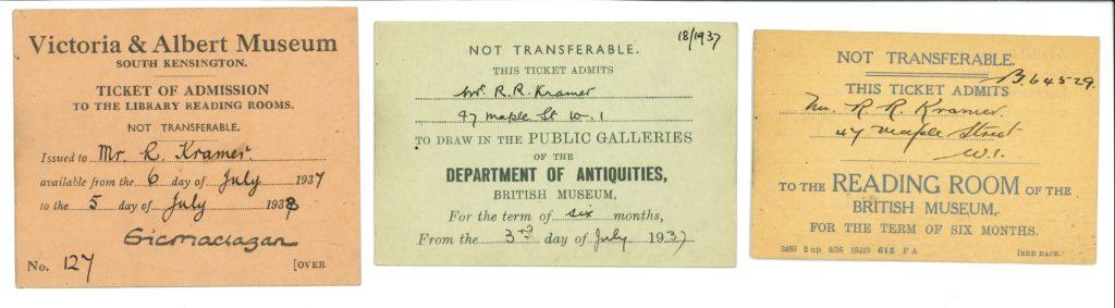 Strip of three tickets.