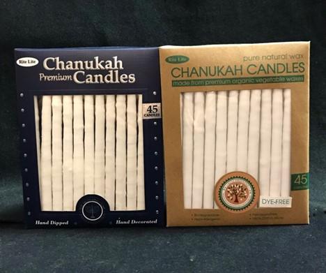 Chanukah Candles Premium and Natural Wax