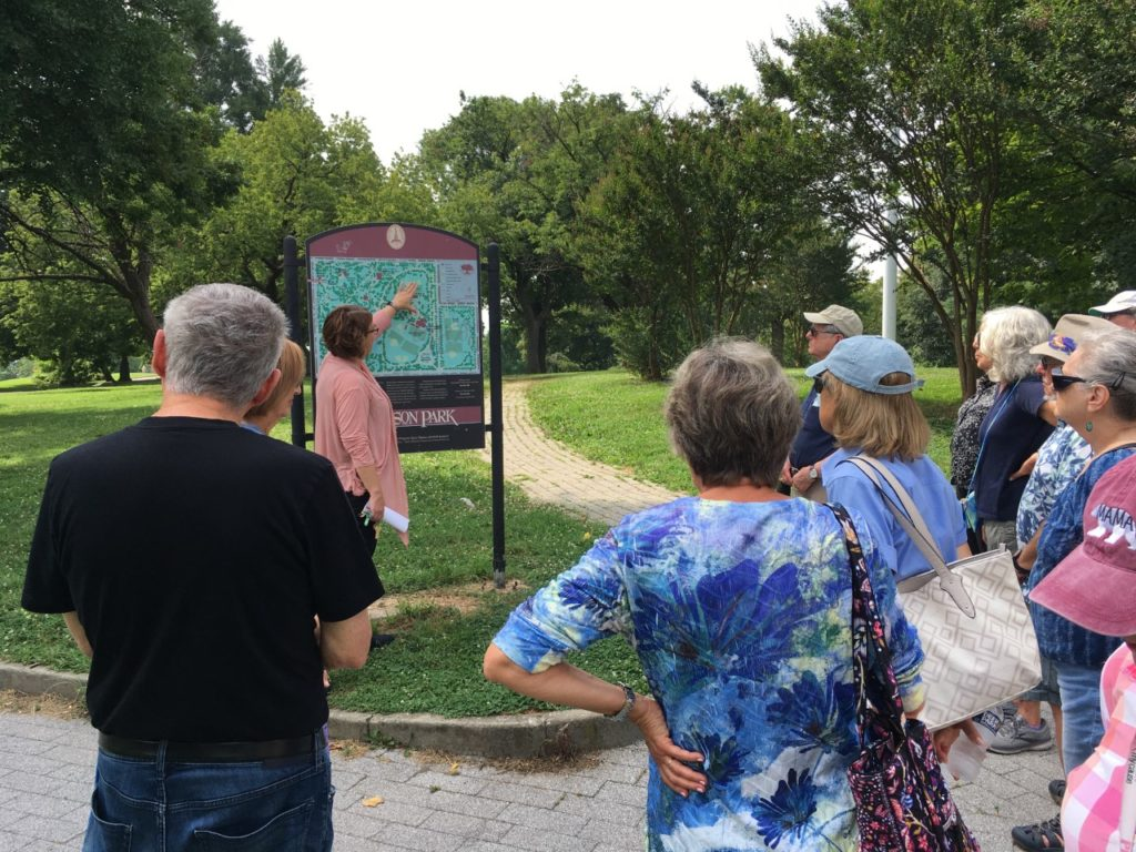 Looking at the Patterson Park map.