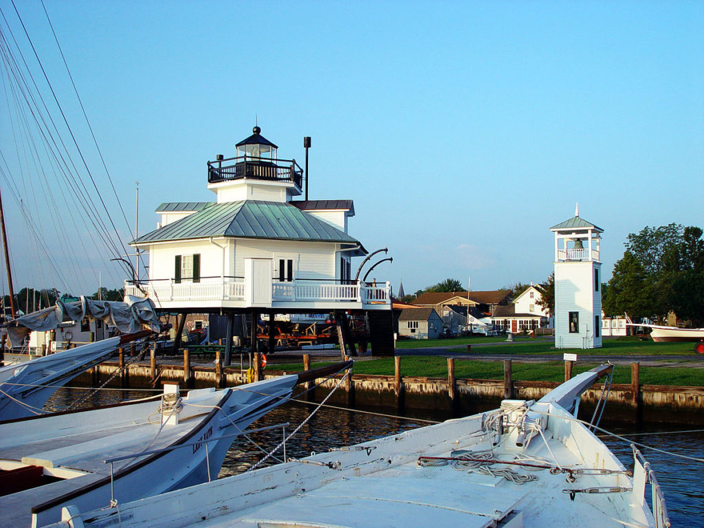 View of lighthouse at Chesapeake Bay Maritime Museum