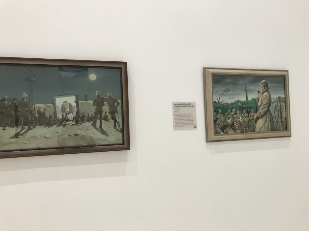 Artwork on display as part of the exhibit